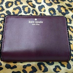 Kate Spade authentic purple leather wallet